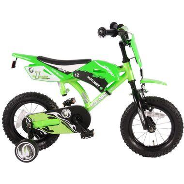 Volare Motorbike Kinderfiets - Jongens - 12 inch - Groen - 95% afgemonteerd