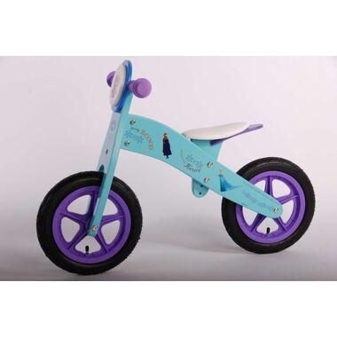 Disney Frozen Houten Loopfiets - Meisjes - 12 inch - Blauw/Paars