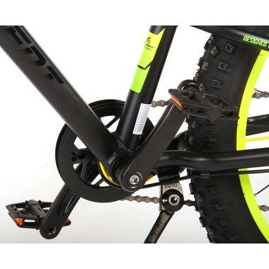 Volare Gradient Kinderfiets – Jongens – 24 inch – Zwart Groen Geel – 7 speed – Prime Collection