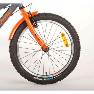 Volare Rocky Kinderfiets - 20 inch - Grijs Oranje - 95% afgemonteerd - 6 speed - Prime Collection