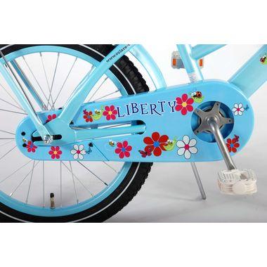Volare Liberty Urban Flowerie Ice Blue 18 inch meisjesfiets 95% afgemonteerd OUTLET